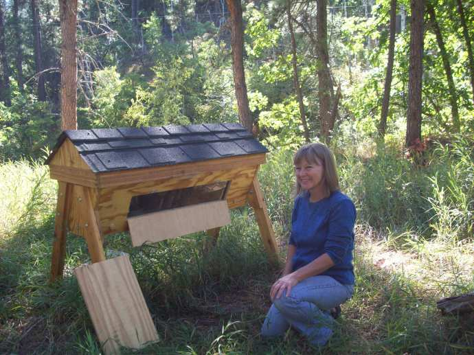 Example of a top bar hive